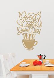 מדבקת קיר - good coffee good day