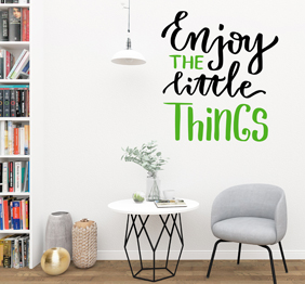 מדבקת קיר - Enjoy the little things