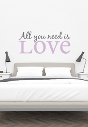 מדבקת קיר - All you need is love - 3