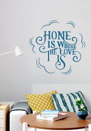 מדבקת קיר - Home is where the love is 2