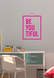 מדבקת קיר - BE YOU TIFUL