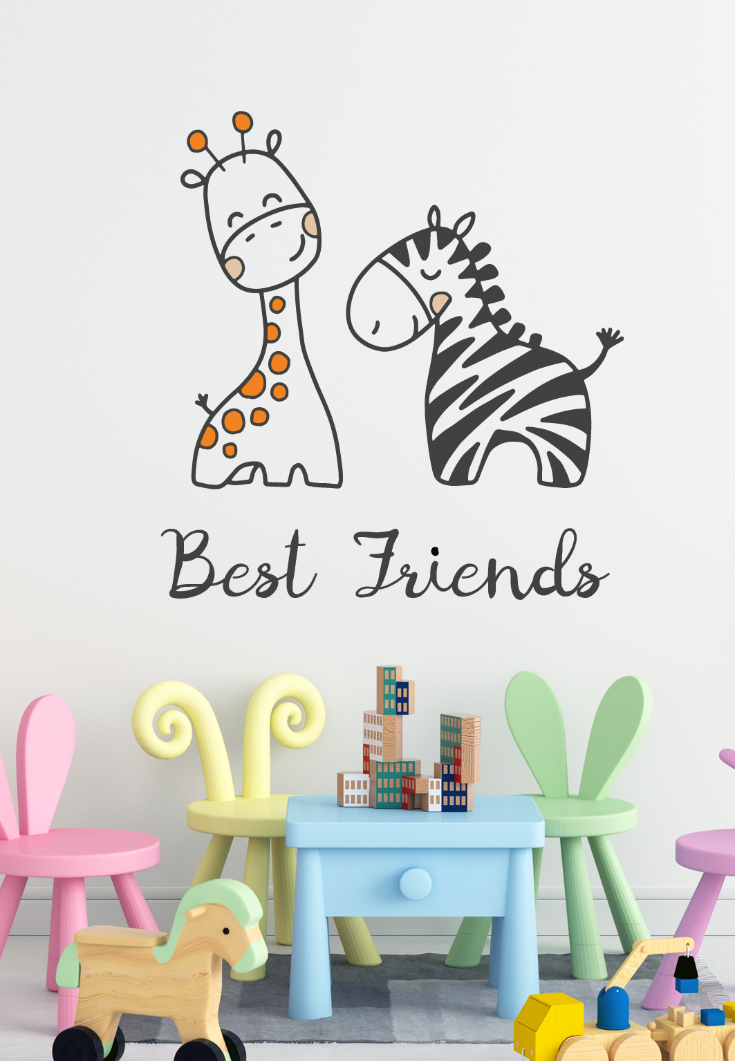 מדבקת קיר - Best Friends