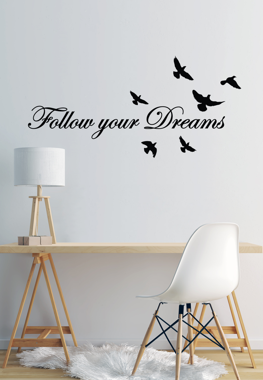 מדבקת קיר - Follow your Dreams 4