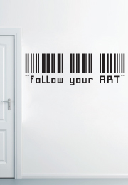 "מדבקת קיר - "" follow your ART """