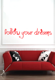 מדבקת קיר - follow your dreams-2