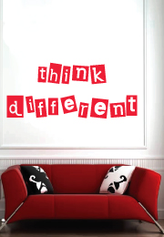 מדבקת קיר - think different
