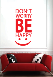 מדבקת קיר - don't worry be happy