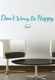 מדבקת קיר  :   2 - don't worry be happy