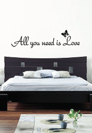 מדבקת קיר - All you need is love