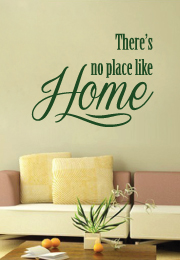 מדבקת קיר : there is no place like home-2