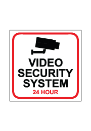 שלט - VIDEO SECURITY SYSTEM 24 HOUR