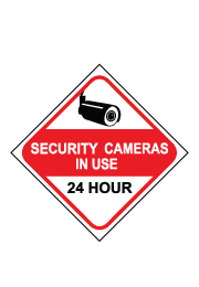 שלט - SECURITY CAMERAS IN USE 24 HOUR