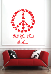 מדבקת קיר - all you need is love - 2