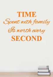 מדבקת קיר - Time spent with family